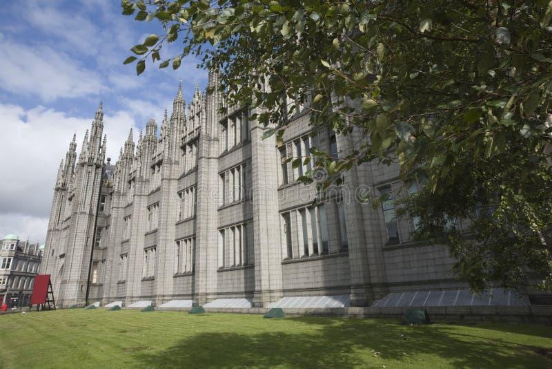 Marshall's Universiteit in Aberdeen, het UK stock afbeelding