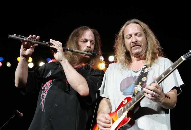 Marshall Tucker Band Performs de concert photographie stock