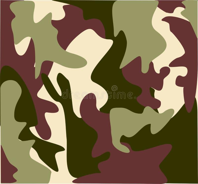 Marshland military camouflage vector illustration