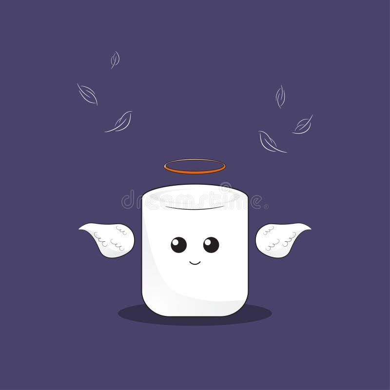 Marshmallowängel royaltyfri illustrationer