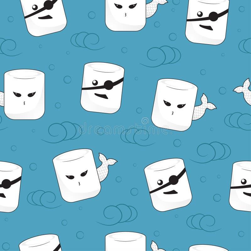 Marshmallow γοργόνα και σχέδιο πειρατών απεικόνιση αποθεμάτων