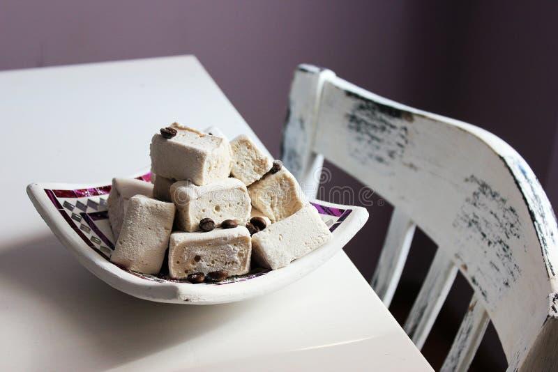 Marshmallow καφέ στοκ εικόνα με δικαίωμα ελεύθερης χρήσης
