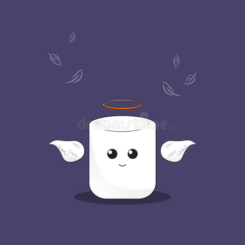 Marshmallow anioł royalty ilustracja