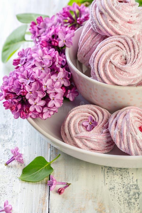 Marshmallow caseiro Sobremesa tradicional do russo foto de stock