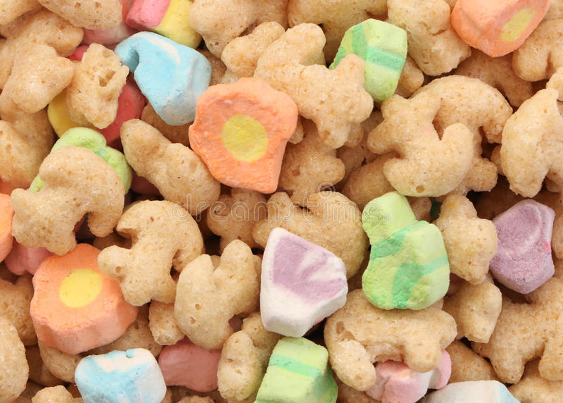 Marshmallow Cereal Background royalty free stock images