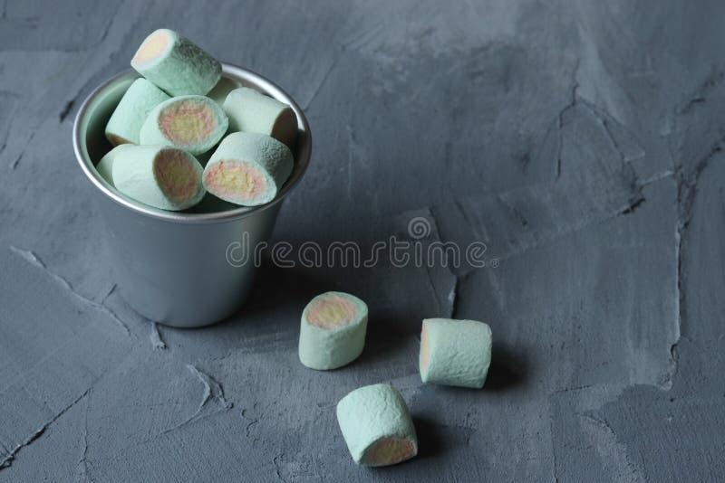 Marshmallow cukierki, galaretowi cukierki obraz stock
