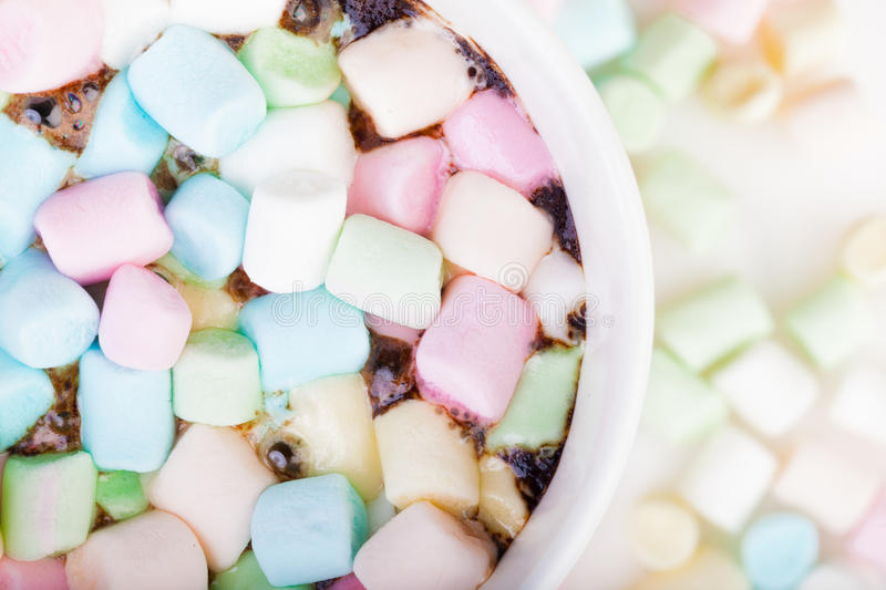 Download Marshmallow in the cup stock photo. Image of close, drink - 85037416