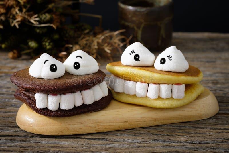 Marshmallow de Dia das Bruxas fotos de stock royalty free