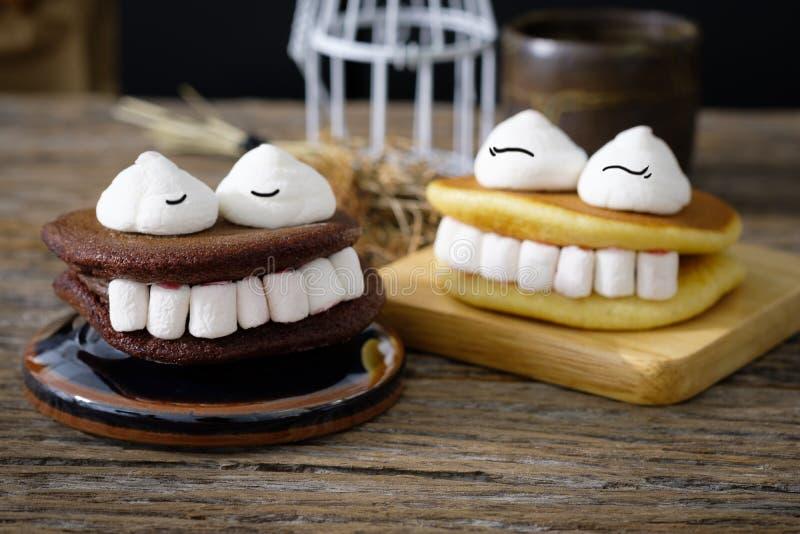 Marshmallow de Dia das Bruxas imagem de stock royalty free