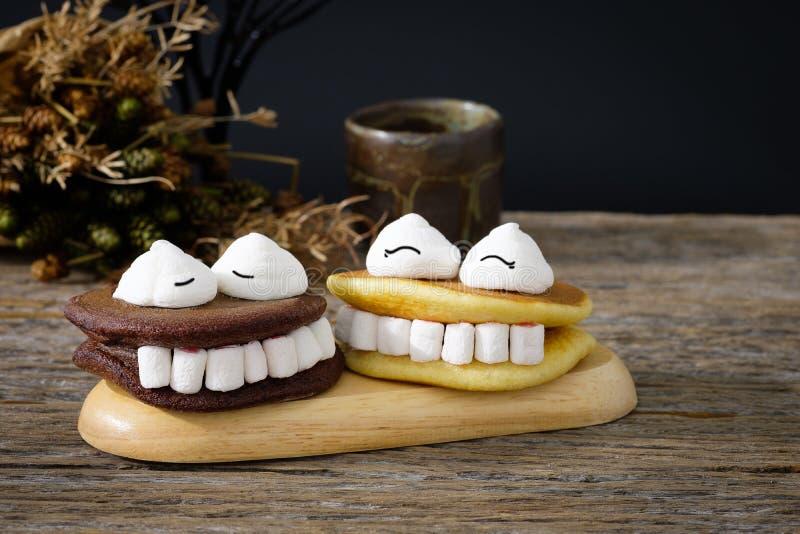 Marshmallow de Dia das Bruxas imagens de stock