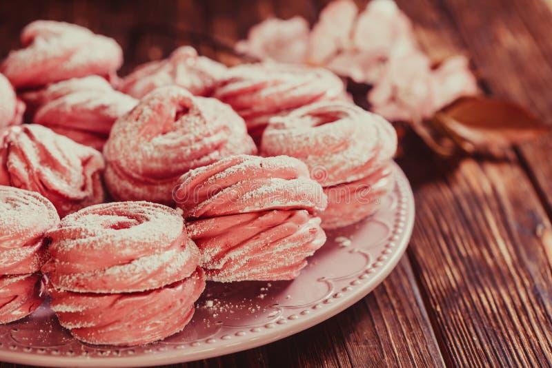 Marshmallow doce da sobremesa fotografia de stock