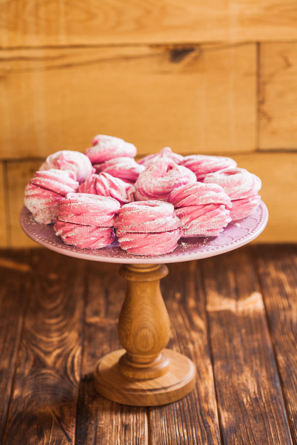 Marshmallow doce da sobremesa imagens de stock