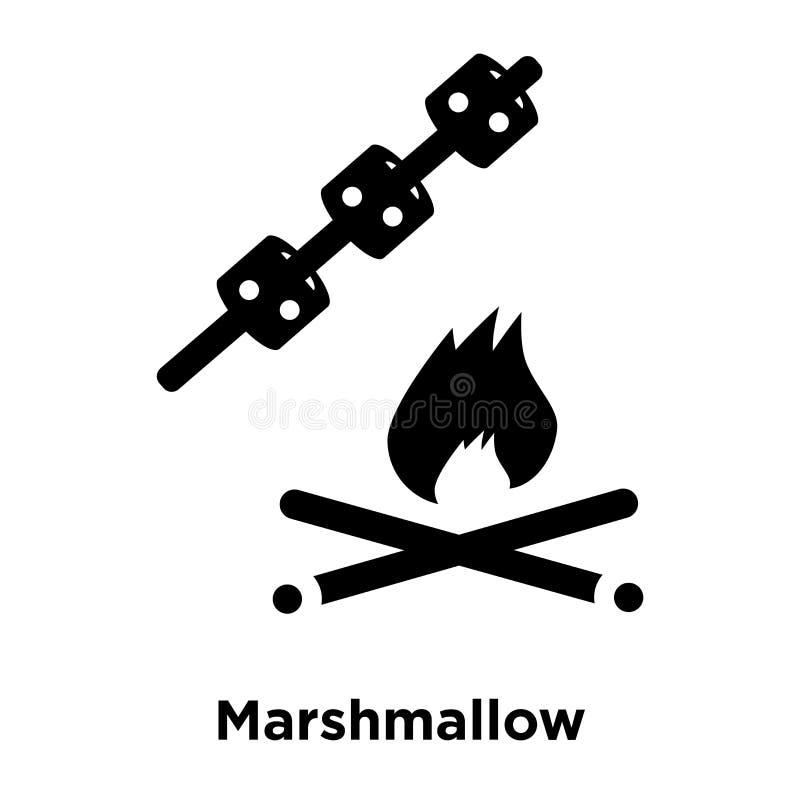 Marshmallow ikony wektor odizolowywający na białym tle, loga conce ilustracja wektor