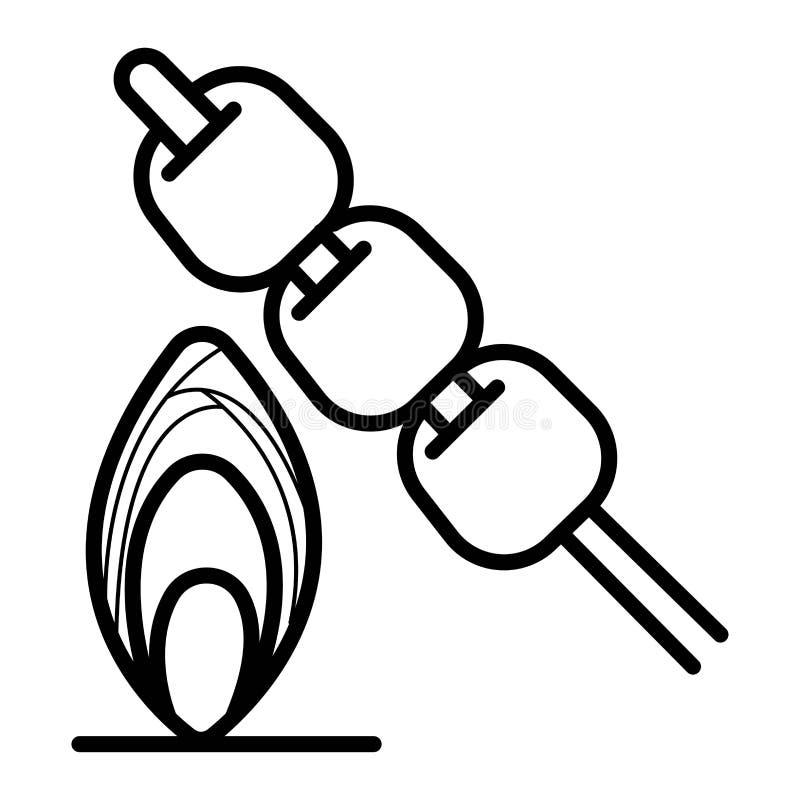 Marshmallow ikony wektor royalty ilustracja