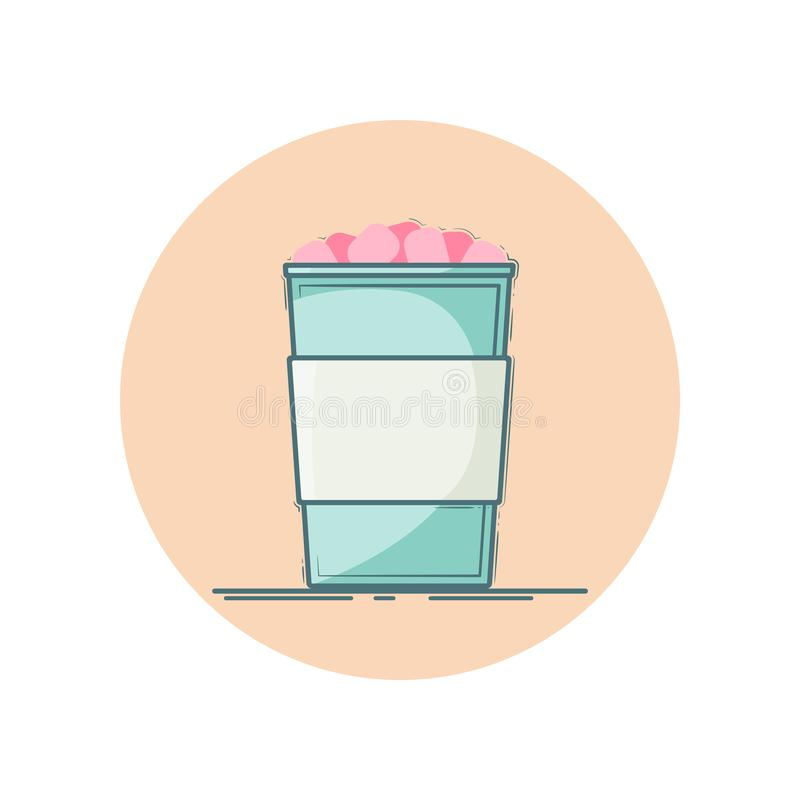 Marshmallow kakao ikona ilustracji