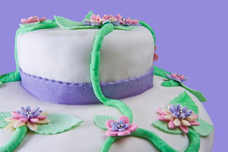 Marshmallow Multilayer Cake Closeup royalty free stock photo