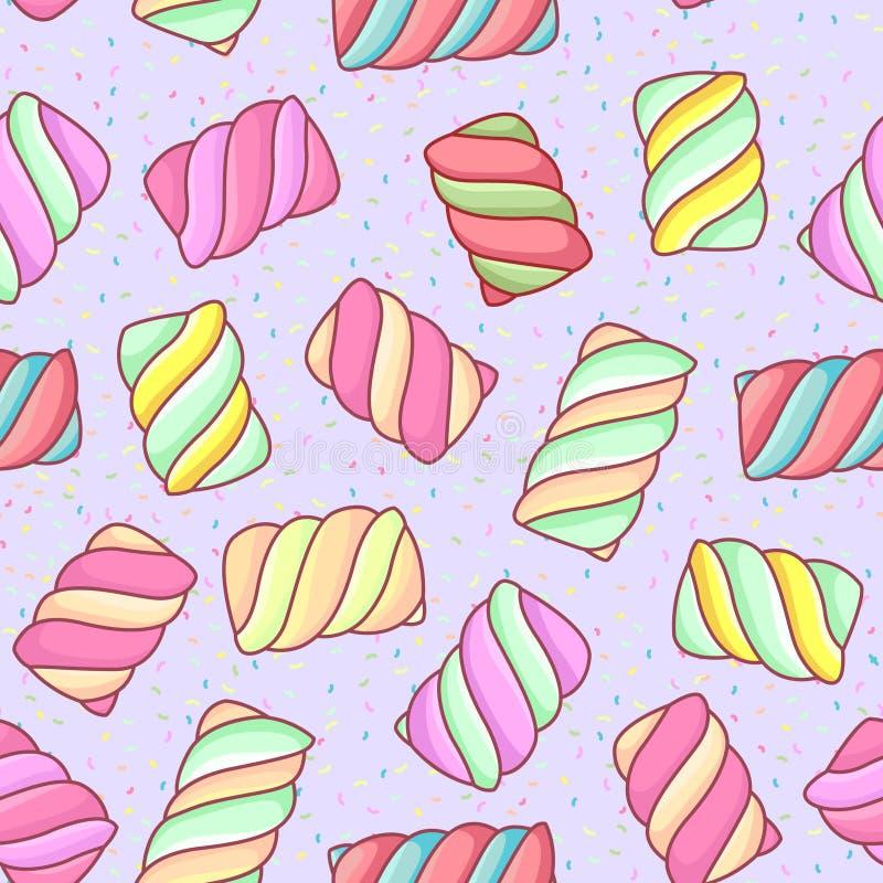 Marshmallow pattern royalty free stock photos