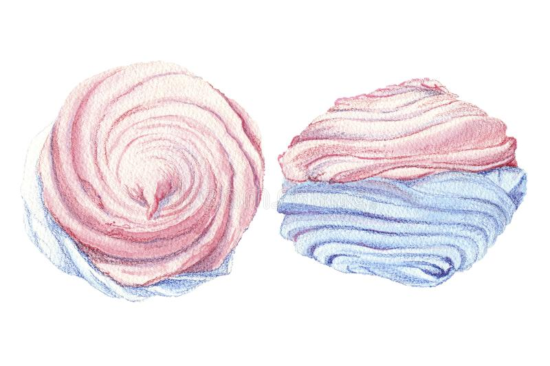 Marshmallow pink and blue royalty free stock photos