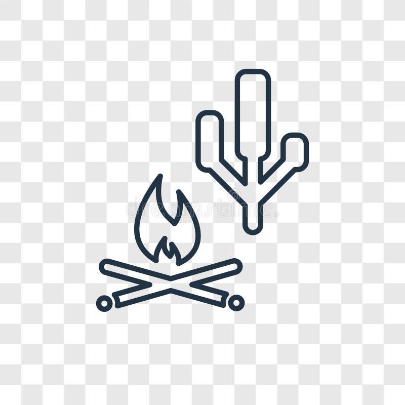Marshmallow pojęcia wektorowa liniowa ikona odizolowywająca na przejrzysty b royalty ilustracja