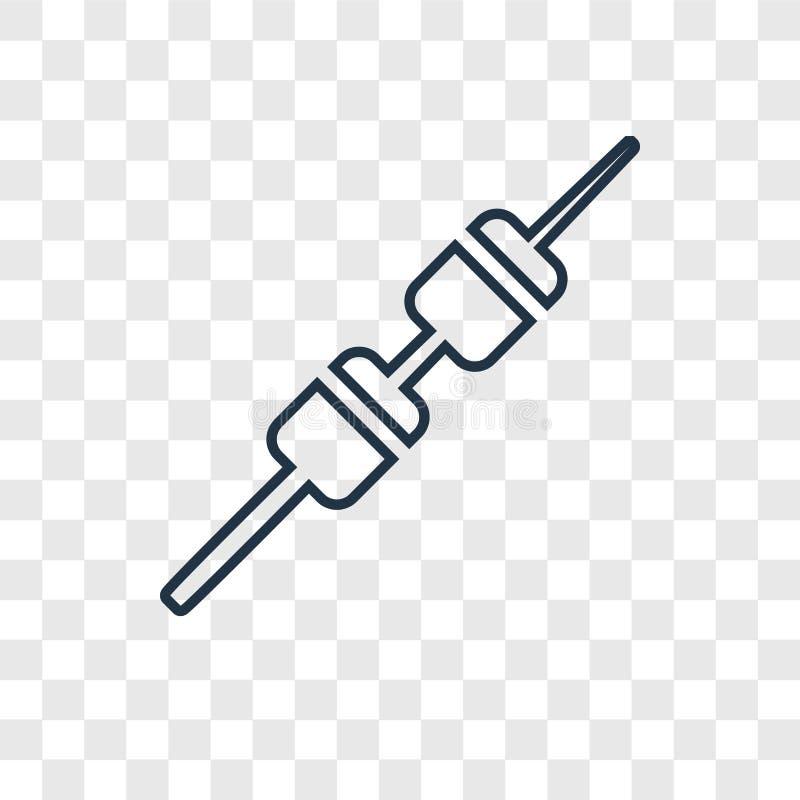 Marshmallow pojęcia wektorowa liniowa ikona odizolowywająca na przejrzysty b ilustracji