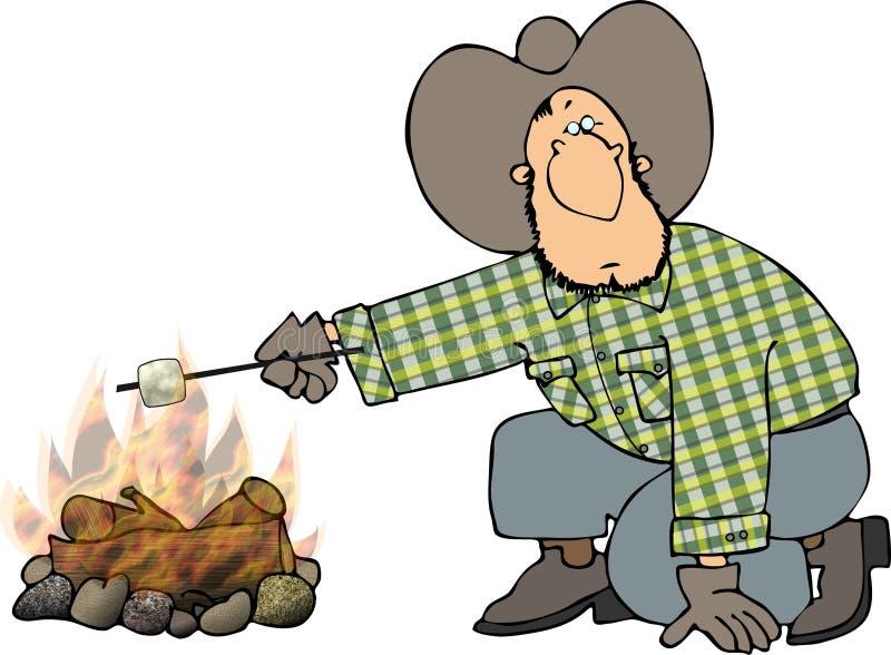 Marshmallow roast stock illustration