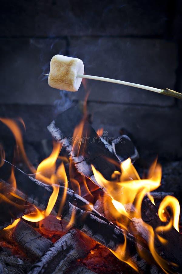 marshmallow stekande arkivfoton