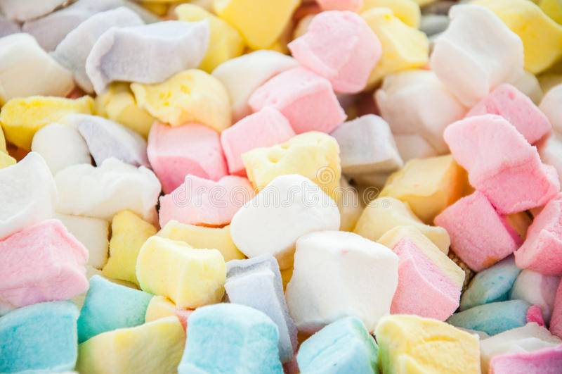 Marshmallow sześciany zdjęcia royalty free