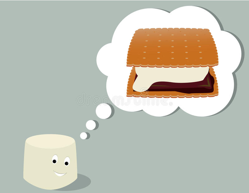 Download Marshmallow Thinking Of Smore Stock Vector - Image: 12786652