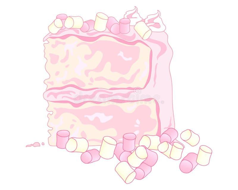 Marshmallow tort ilustracja wektor