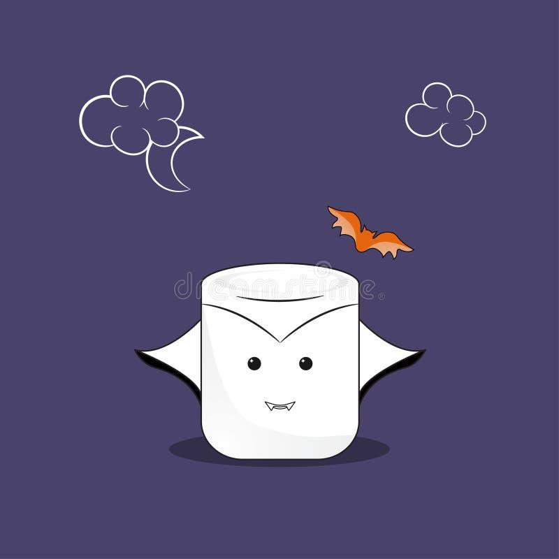 Marshmallow wampir royalty ilustracja