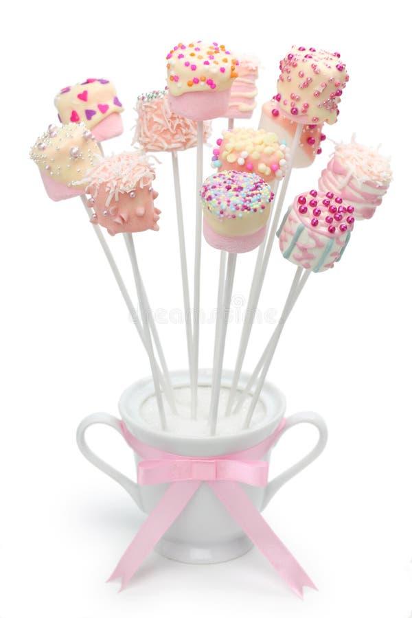 Marshmallowpop arkivfoto