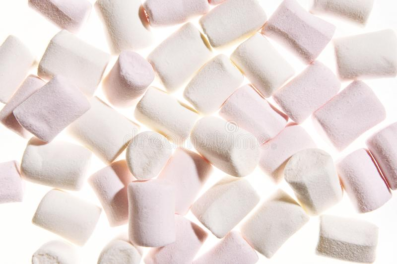 Marshmallows background close up royalty free stock image
