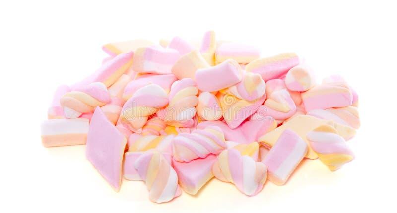 Marshmallows coloridos fotografia de stock