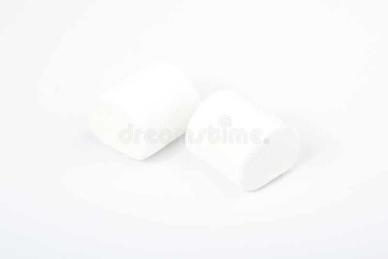 Marshmallows no branco sweetness imagem de stock royalty free