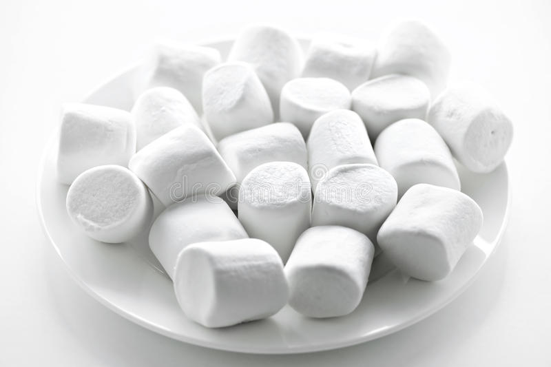 Download Marshmallows on plate stock photo. Image of many, close - 12732426