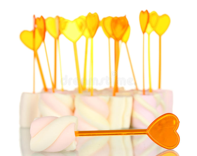Download Marshmallows with skewers stock image. Image of background - 23679977