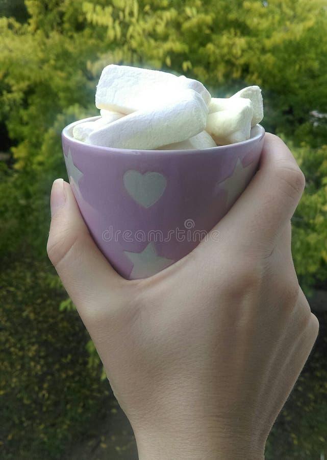 Marshmellow-Kaffee lizenzfreie stockfotografie