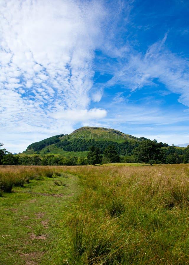Marshy plains around Loch Tay royalty free stock photos