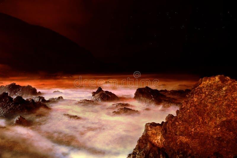 marsian θάλασσα στοκ εικόνα