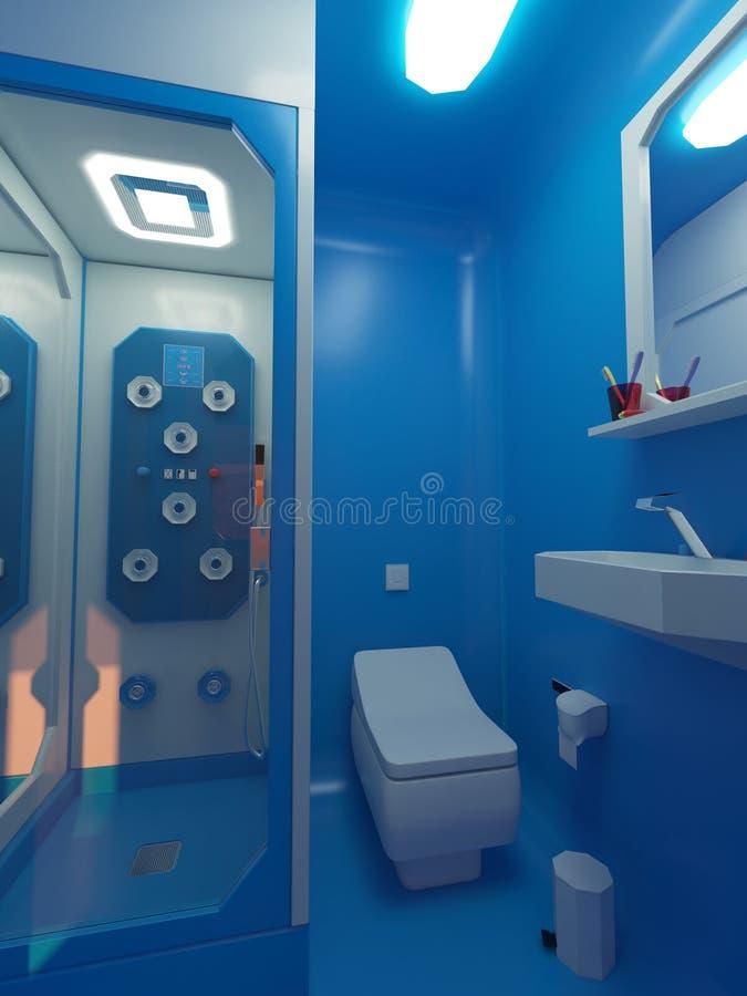 Marsjański Hotelowy Bathoom obraz royalty free