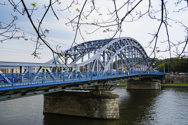 Marskalk Jozef Pilsudski Bridge royaltyfri fotografi