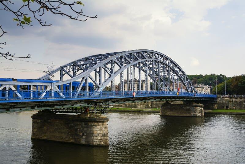 Marskalk Jozef Pilsudski Bridge fotografering för bildbyråer