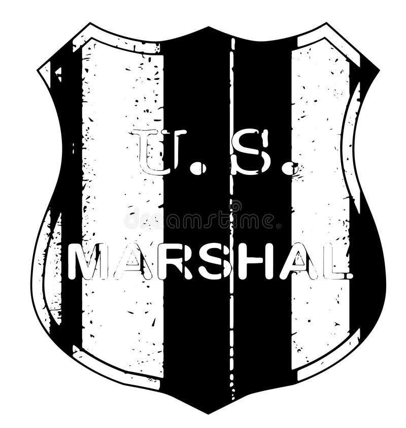 Marskalk Shield Badge stock illustrationer