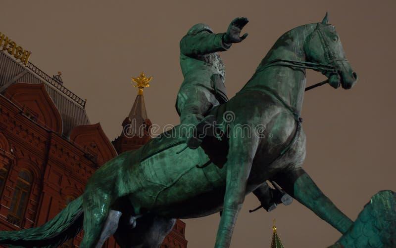 Marskalk Zhukov Monument royaltyfria bilder