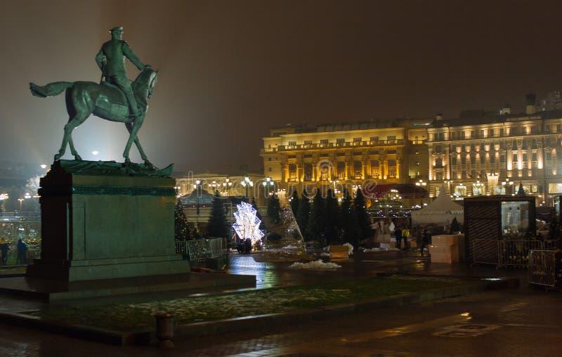 Marskalk Zhukov Monument arkivbilder