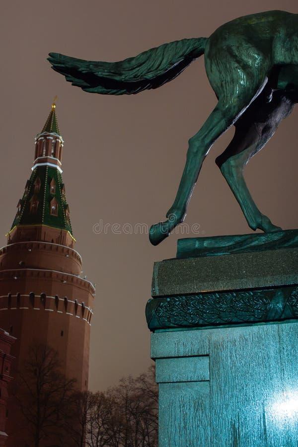 Marskalk Zhukov Monument royaltyfri foto