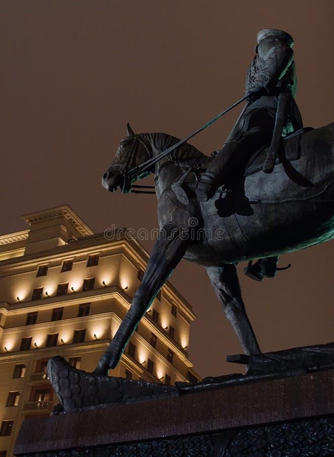 Marskalk Zhukov Monument arkivbild
