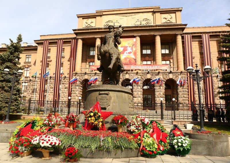 Marskalk Zhukov Monument fotografering för bildbyråer