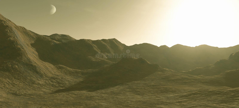 marsscape διανυσματική απεικόνιση