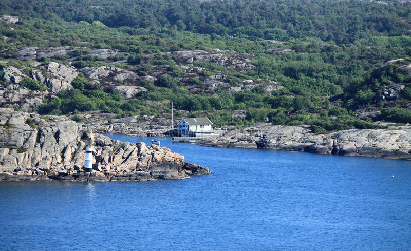 Marstrand from Carlstens fortress royalty free stock photography